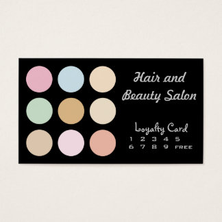 modern fine pastel colors - Loyalty Card