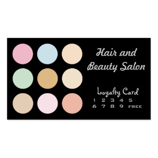 modern fine pastel colors - Loyalty Card Pack Of Standard Business Cards