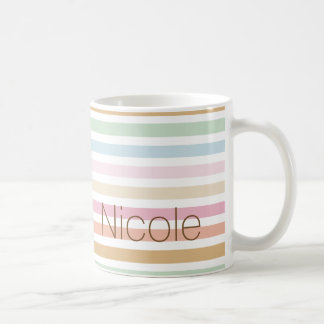 modern fine pastel colors monogram coffee mug
