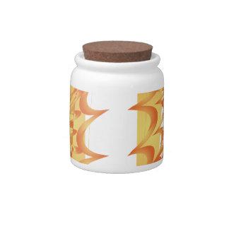 Modern Fire Candy Jar