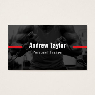 Modern Fitness Training Personal Trainer Business Card