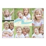 Modern Flag Holiday Photo Card - Blue 13 Cm X 18 Cm Invitation Card