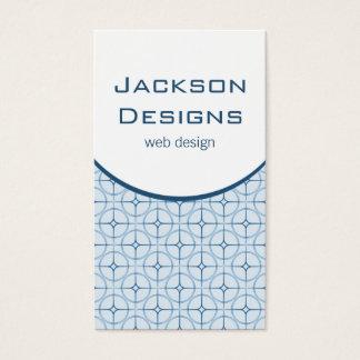 Modern Flair Business Card, Blue