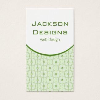 Modern Flair Business Card, Green