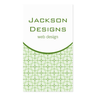 Modern Flair Business Card, Green Pack Of Standard Business Cards