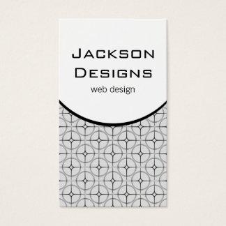 Modern Flair Business Card, Light Gray