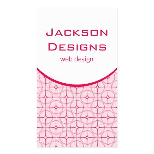Modern Flair Business Card, Pink