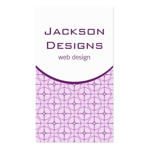 Modern Flair Business Card, Purple