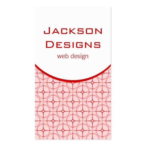 Modern Flair Business Card, Red