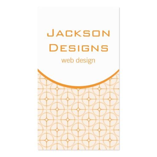 Modern Flair Business Card, Tangerine