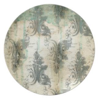 Modern Fleur De Lis Design Plates