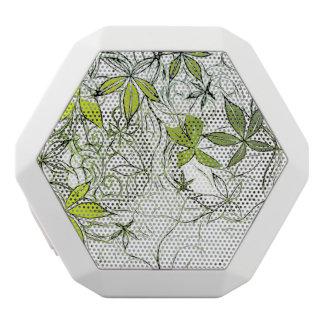 Modern Floral Background 234 White Bluetooth Speaker