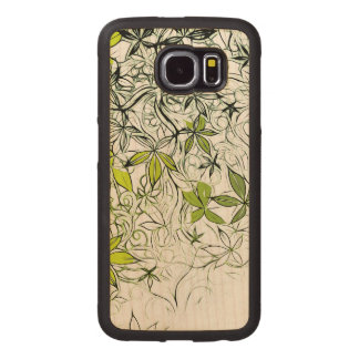 Modern Floral Background 234 Wood Phone Case