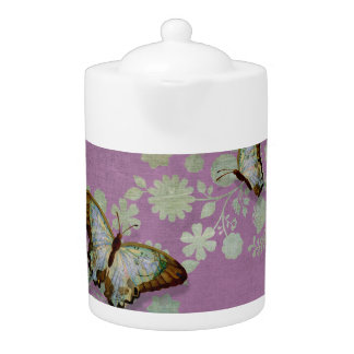 Modern Floral Butterfly w Abstranct Flower Blossom
