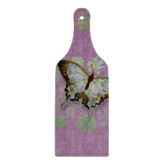 Modern Floral Butterfly w Abstranct Flower Blossom Cutting Board