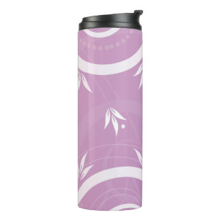Modern Floral Design Pink Thermal Tumbler