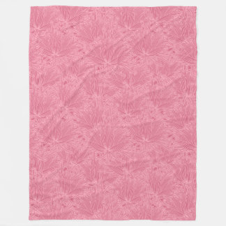 Modern Floral Fleece Blanket