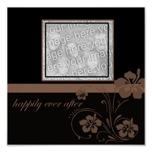 Modern Floral...happily ever after Print