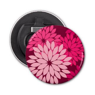 Modern Floral Kimono Print, Coral Pink & Burgundy