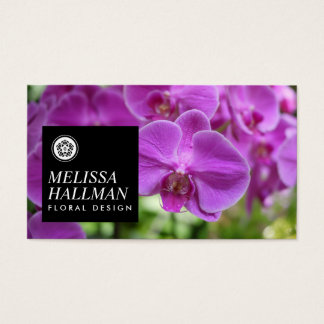 Modern Floral Logo Bright Orchids I Business Card