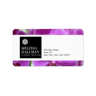 Modern Floral Logo Bright Orchids I Label