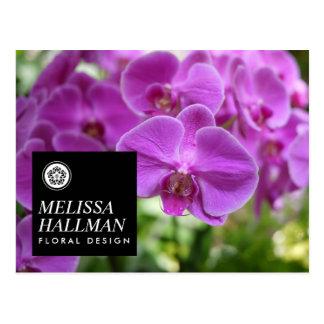 Modern Floral Logo Bright Orchids I Postcard