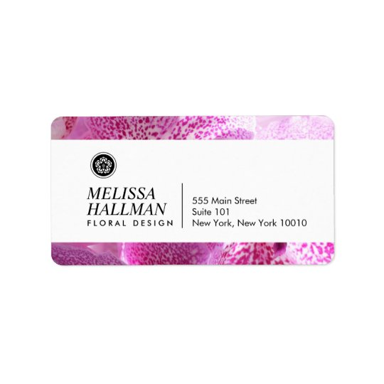 Modern Floral Logo Bright Orchids II Label