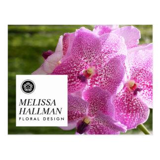 Modern Floral Logo Bright Orchids II Postcard