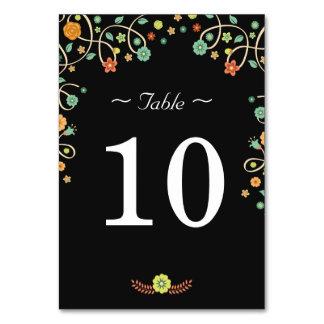 Modern Floral Love Birds - Wedding Table Number