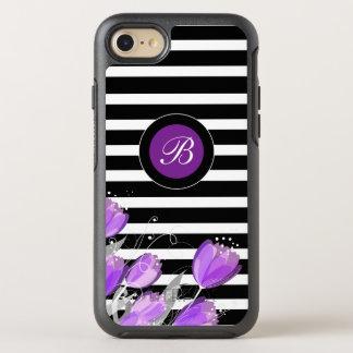 Modern Floral Monogram OtterBox Symmetry iPhone 8/7 Case