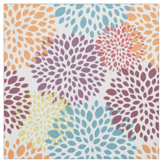 Modern Floral Multicolor Fabric