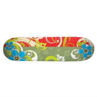 Modern Floral Ornament 21.6 Cm Skateboard Deck