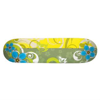 Modern Floral Ornament Custom Skate Board