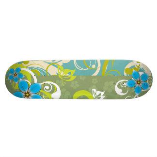 Modern Floral Ornament Skate Boards