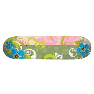Modern Floral Ornament Skate Board Deck