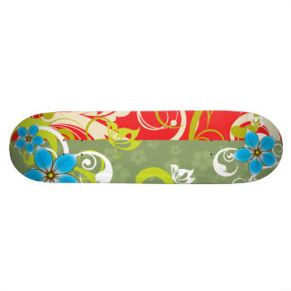 Modern Floral Ornament Skate Decks