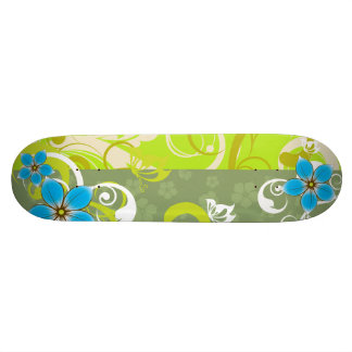 Modern Floral Ornament Skateboard Decks