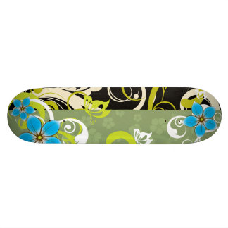Modern Floral Ornament Skateboard Deck