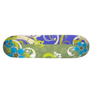 Modern Floral Ornament Custom Skateboard