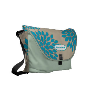 Modern Floral Pattern Messenger-choose colors Messenger Bags