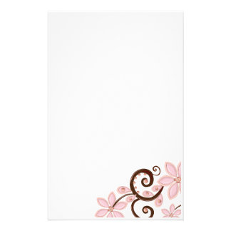 Modern Floral Personalised Stationery
