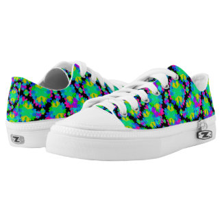 Modern Floral Printed Low Top Shoes Printed Shoes