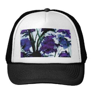 Modern Floral Purple Flowers in the Garden Breezes Mesh Hat