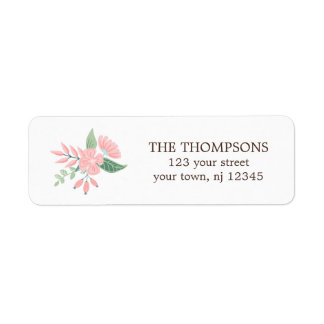 Modern Floral Return Address Label