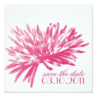 Modern Floral Save the Date Cards 13 Cm X 13 Cm Square Invitation Card
