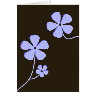Modern Floral Silhouette Card