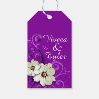 Modern Floral Swirling Curlicues | purple