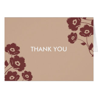 Modern Floral Thank You Notes Note Card