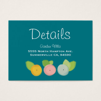 Modern Floral Watercolor Wedding Collection Business Card