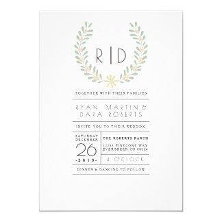 Modern Floral | Wedding Invite